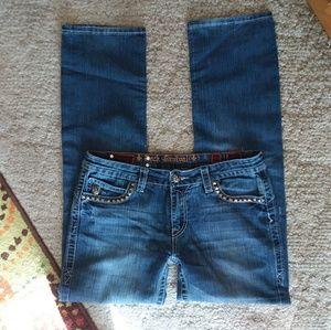 ROCK REVIVAL JOHN straight leg studded jeans sz 32